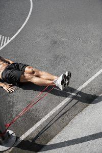 Sport und Fitnessfotografie Lifestyle Portrait in Hamburg im Baakenpark